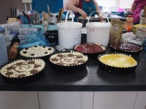 Cheesecakes ready for the fridge