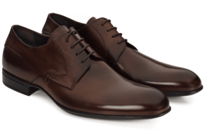 Glatte, brune Derbysko uten tåkappe fra Moradi. Foto: Menswear.no