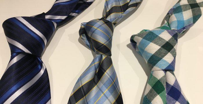 De tre slipsene jeg har fått så langt fra Spiffster