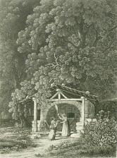 Samuel Birmann (suisse, 1793-1847) - Four savoyard, 1830