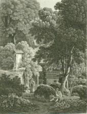 Samuel Birmann (suisse, 1793-1847) - Habitation savoyarde, 1830