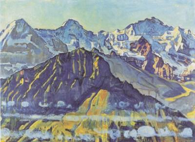 l'Eider, le Moine et la Jungfrau, 1908 par Ferdinand Hodler (1853-1918) - crédit Wikipedia