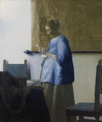 Femme lisant une lettre - Johannes Vermeer - 1662-1663