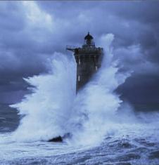 Phare du Four en Bretagne (à partir d'une photo de Jean Guichard)