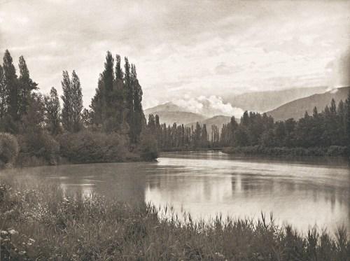 Bords de l'Isère, le soir - photographe Paul de Montal