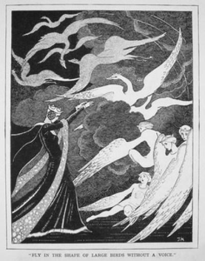 les Cygnes sauvages - illustration Jennie Harbour