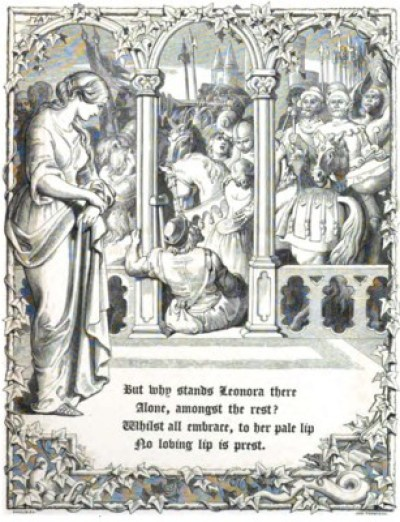 Lénora - illustration de Daniel Maclise - 1847