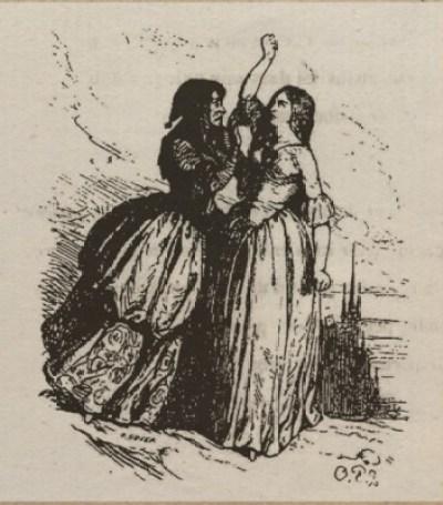 Le Blasphème ou Lénore - Octave Penguilly gravure Louis - 1842