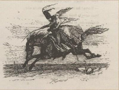 La Course ou Lénore - Octave Penguilly gravure Louis - 1842