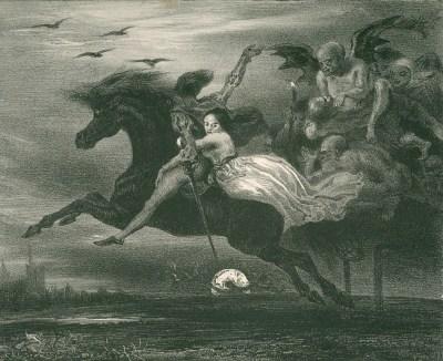 la Ronde du sabbat ou Lénore - Louis Boulanger - 1828
