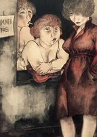 "Jeanne Mammen - Brüderstraße (""Zimmer frei"")"