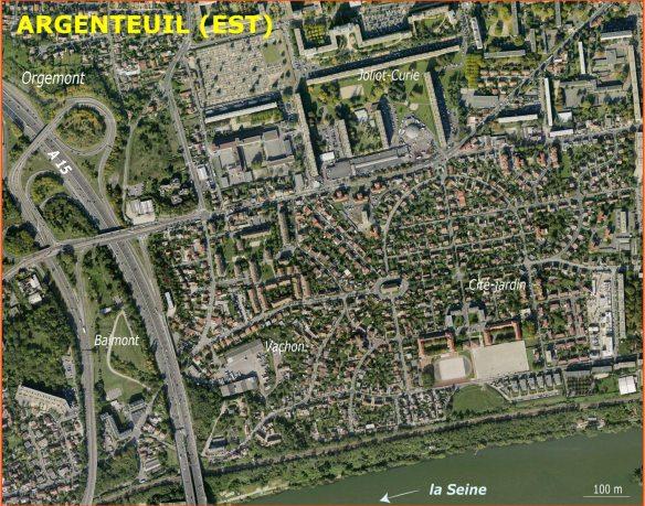 Argenteuil : Vue aérienne des cités d'Orgemont et Joliot-Curie