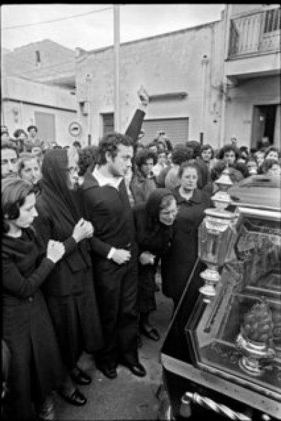 Franco Zecchin - Cinisi, 1978 - obsèques de Giuseppe Impasto, militant communiste tué par la mafia.