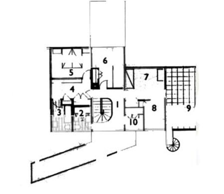 Gropius House - plan du niveau 1