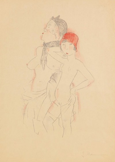 Dame unf Madchen vers 1930-1932-