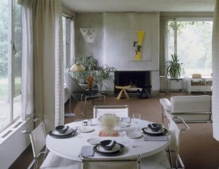 Gropius House à Lincoln - salles de séjour et à manger