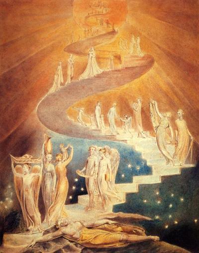 L'échelle de Jacob, William Blake, 1800. British Museum.