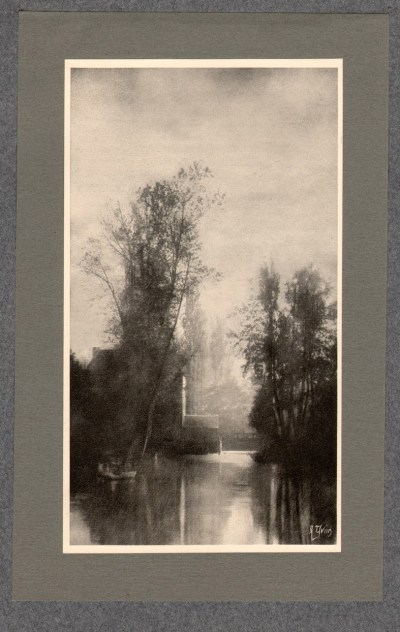 Bords du Loir, 1905 - photographe Albert Yvon