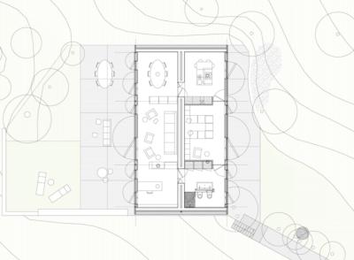 Herreros Arquitectos – maison à Arta (Majorque), 2007 – plan – photo José Hevia