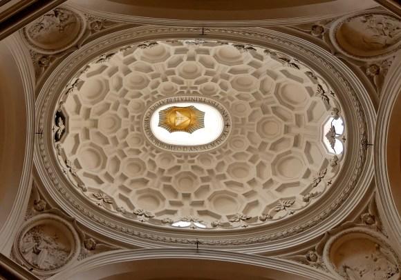 Dôme de l'éflise San Carlo alle Quattro Fontane à Rome