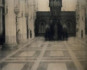 FernandKhnopff+InBruges-AChurch-NotreDame+1904+MuseeCommunaux-Verviers-Belgium