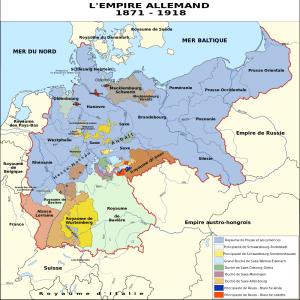 carte de l'Empire allemand de 1871 à 1918