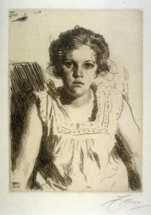Anders Zorn -  Frida, 1914