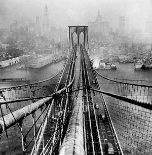 Arthur Leipzig - Brooklyn Bridge, 1946