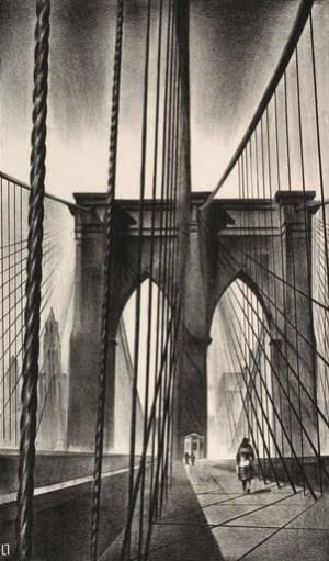 Louis Lozowick  - Brooklyn Bridge,1930