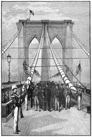 Opening celebration Brooklyn Bridge