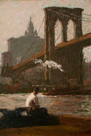 Robert Knight Ryland - The Bridge Pier, date inconnue