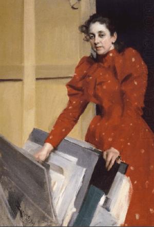 Anders Zorn - Emma au studion à Paris, 1894