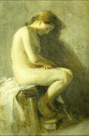 Anders Zorn - modelstudy, 1880