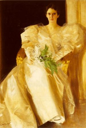 Anders Zorn - portraits de Mrs Eben Richards, 1899