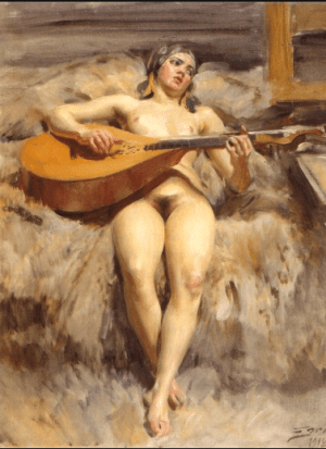 Anders Zorn - studio idyll, 1918