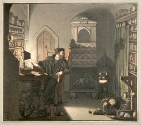 Friedrich August Moritz Retzsch-beschwoerung des pudels im studierzimmer, 1816