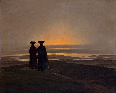 Caspar David Friedrich - Deux frères contemplent le coucher du soleil, entre 1830 et 1835 - Musée de l'Ermitage de Saint-Pétersbourg