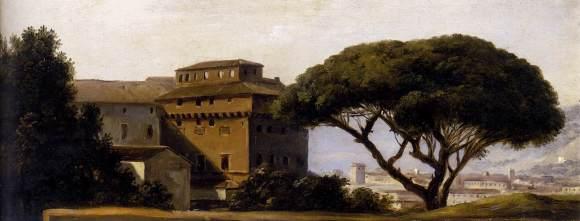 Pierre-Henri de Valenciennes - Vue du couvent d'Ara Coeli parmi les pins