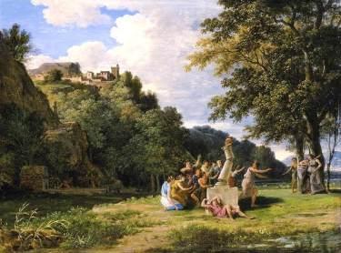 Pierre-Henri de Valenciennes - Paysage arcadie, 1794
