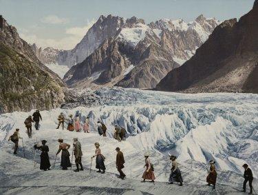 La traversée de la Mer de Glace (entre 1902 et 1904)