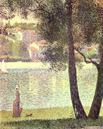 Georges Seurat - la Seine à Courbevoie, 1885
