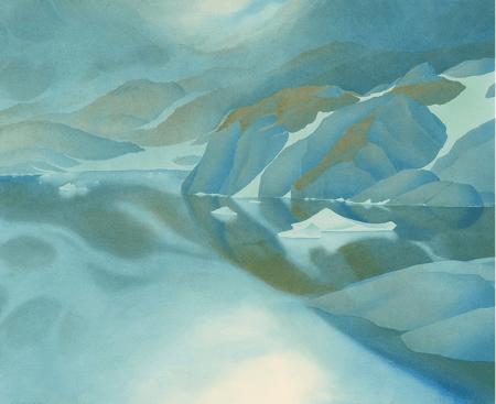 Samivel - Fond du fjord de Quervin, Groenland, 1949