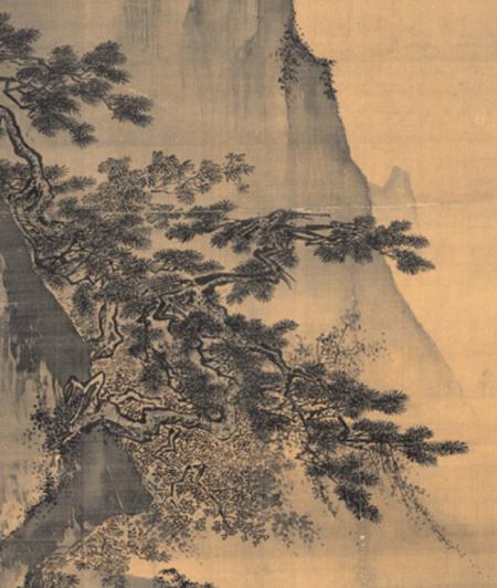 Ma Yuan - Face à la lune (détail)