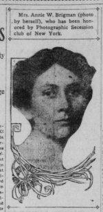 auto-portrait de Anne Brigman publié dans The San Francisco Call, 1908.