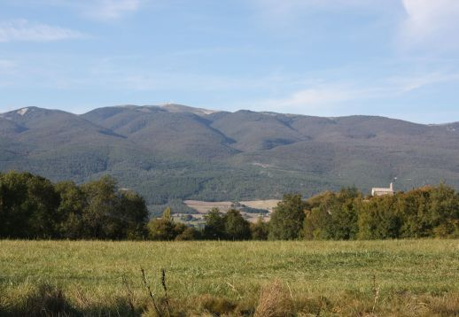 Vue sur la montagne de Lure depuis Revest-Saint-Martin