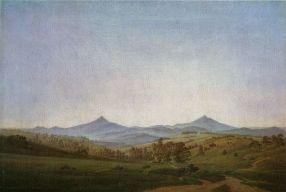 Caspar David Friedrich - Paysage de Bohême avec Mont Milešovka, vers 1809