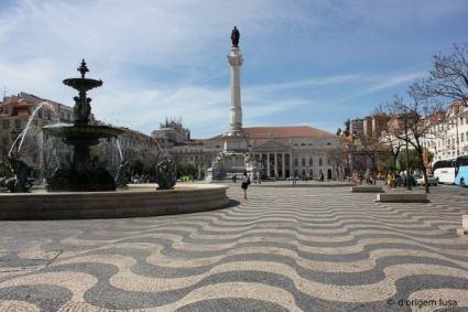 le rossio le plus célèbre du Portugal, celui de Lisbonne