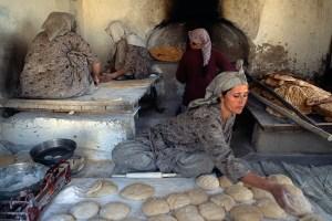 la confection du pain en Afghanistant