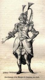 Personnage d'un Masque de Campion en 1606