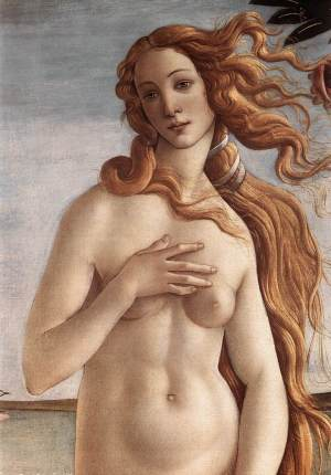 Sandro Botticelli - la Naissance de Vénus (détail), 1483-1485 (Google Art projet)
